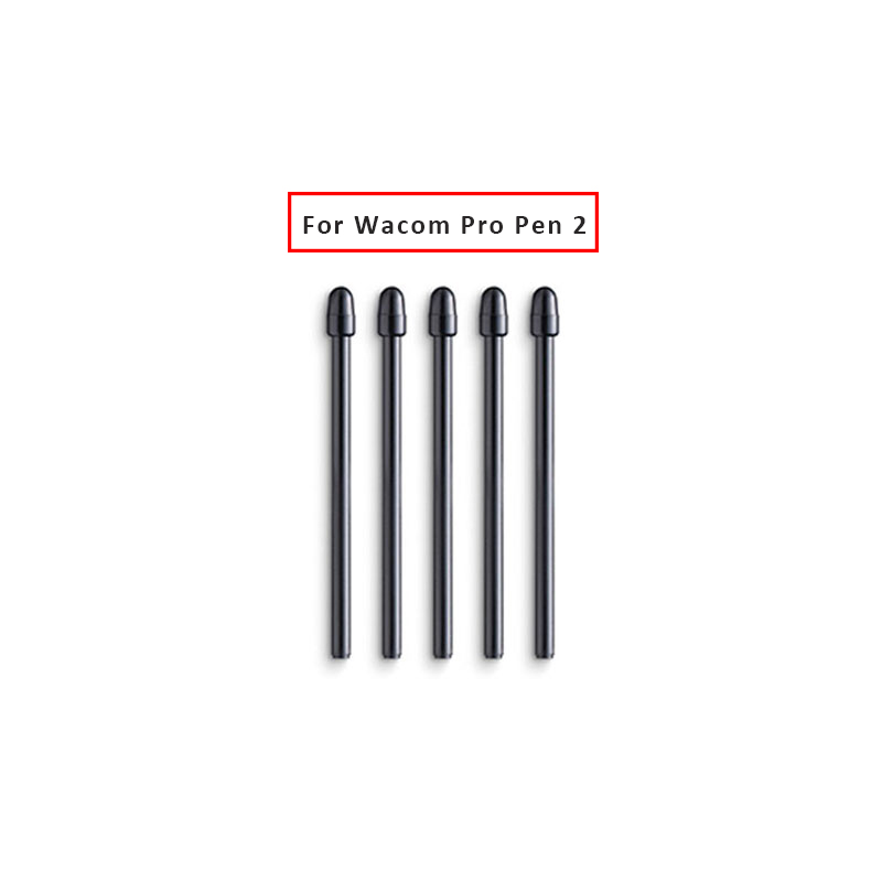 5 Pcs / Lot For Wacom Intuos Pro PTH-660 / 860 Cintiq DTH-W1620 / 1320H Graphic Drawing Tablet's Pen Wacom Pro Pen 2 Black Nibs