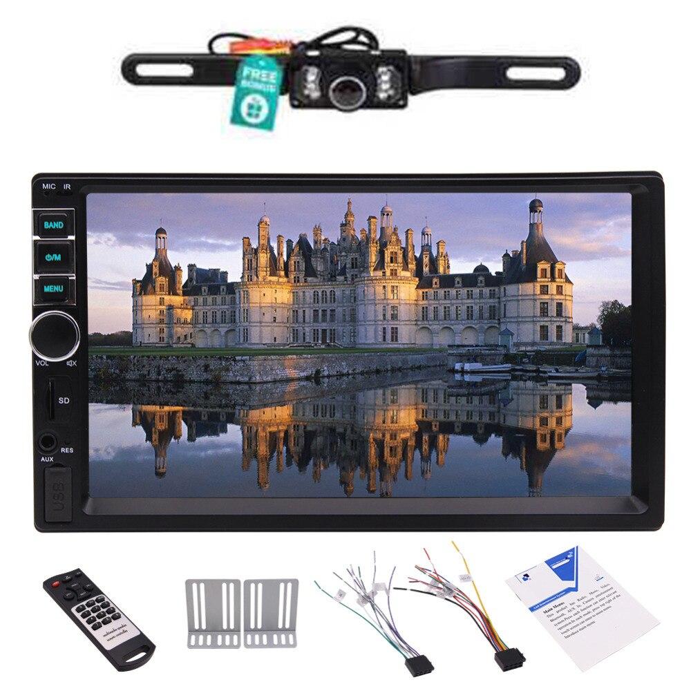 Support de pont de voiture Audio Support FM/SD/USB/Aux écran tactile/Bluetooth 2 Din voiture MP5 lecteur Radio vidéo dans le tableau de bord véhicule Double Din