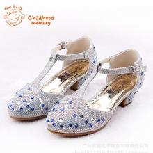 Baby Girls High Heels Princess Sandals 2016 New Summer Autumn Baby Shoes For Baby Girl Sandals Wedding Rhinestone European