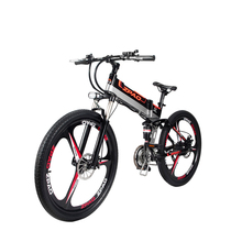 ФОТО 26 inch electric mountain bike 48v anti-theft frame built-in lithium battery 350w motor drive electric bicycle assist range 70km