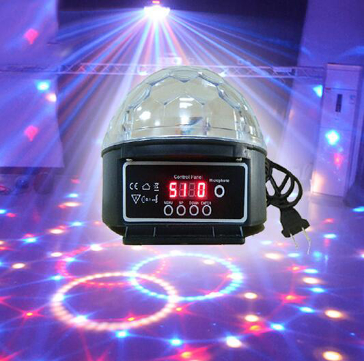 9 Colors 27W Crystal Magic Ball Led Stage Lamp 21Modes Disco Laser Projector Light Party Lights Sound mini rgb led party disco club dj light crystal magic ball effect stage lighting