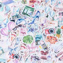 40 pcs Travel series beautiful sticker photo album Scrapbook paper decoration sticker diy Handmade gift card stickers Arts Craft