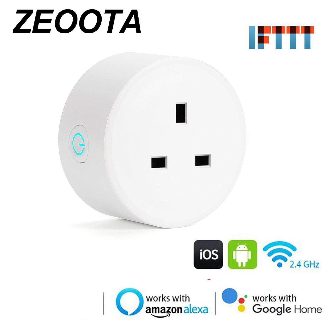 Smart WiFi Power Plug Super Mini UK Outlets Socket Work with Amazon Alexa,Google Home, IFTTT Voice Control Remote Control mini wifi rgb strip light controller with music control and voice control compatible with google home