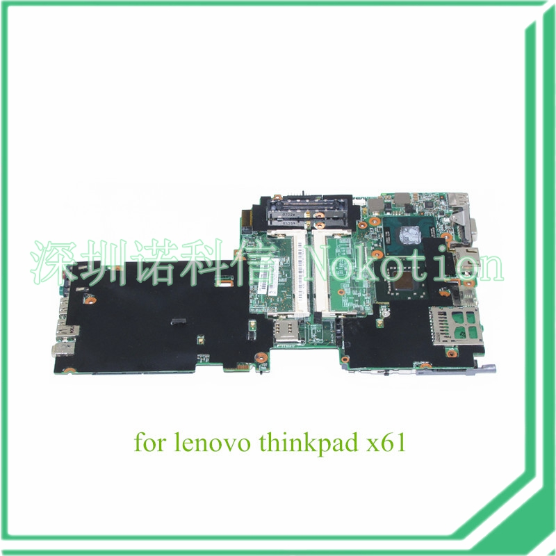 NOKOTION FRU 42W7770 For Lenovo X61 ThinkPad Motherboard System Board 48.4B401.011 T7300 2.0 Ghz CPU DDR2 usb dock board w cable for lenovo thinkpad helix 3xxx series fru 04x0511 48 4ww02 031 0c55439