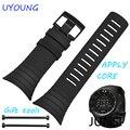 Para suunto core alta qualidade acessórios relógio pulseira de borracha de silicone preto esporte tipos waterpoot aplicar suunto china emitido