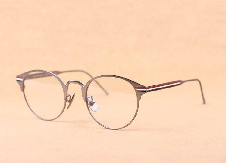 Luxur Brand THOM round Eyeglasses Frames men women TB105 glasses Prescriptio Glasses Computer Optical Vintage round eye Frames
