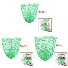 1 шт. нейлоновые зеленые рыболовные складные сетки с ромбовидной сеткой с отверстием, большая сумка, аксессуары для рыболовных снастей