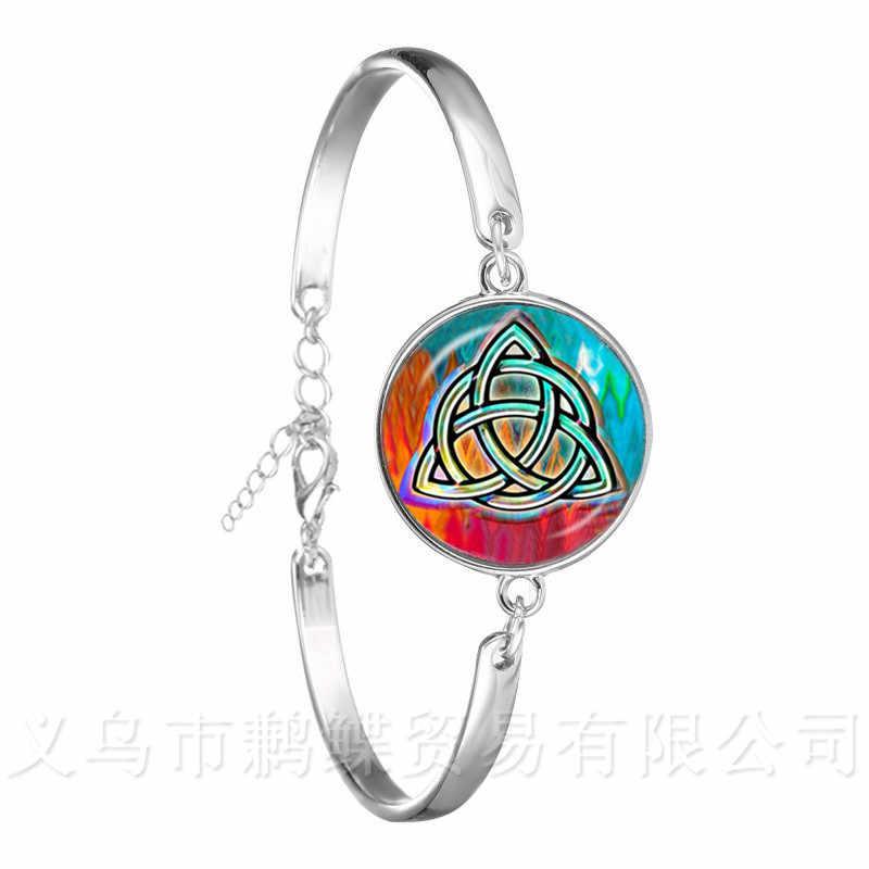 Модный браслет из цепочки 18 мм Стекло кабошон германские язычество Селтикс Для женщин Ювелирный многослойный резиновый браслет для подарка