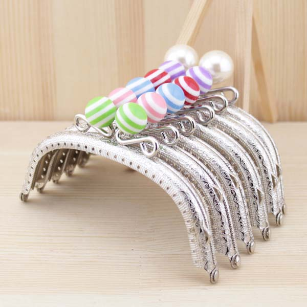 k242 stripe lollipop bead metal purse frame 125cm knurling small crown arc shaped