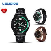 LEMDIOE GW01 MTK2502 Montre Smart Watch Bluetooth Moniteur de Fréquence Cardiaque Smartwatch Pour IOS Android Téléphone Bracelet En Cuir PK LF07 LEM1 K88H