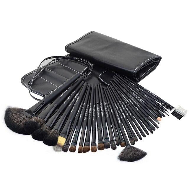 32 шт. черный Профессиональные косметические кисти комплект кисти для макияжа набор case составляют кисти наборы макияж инструмент