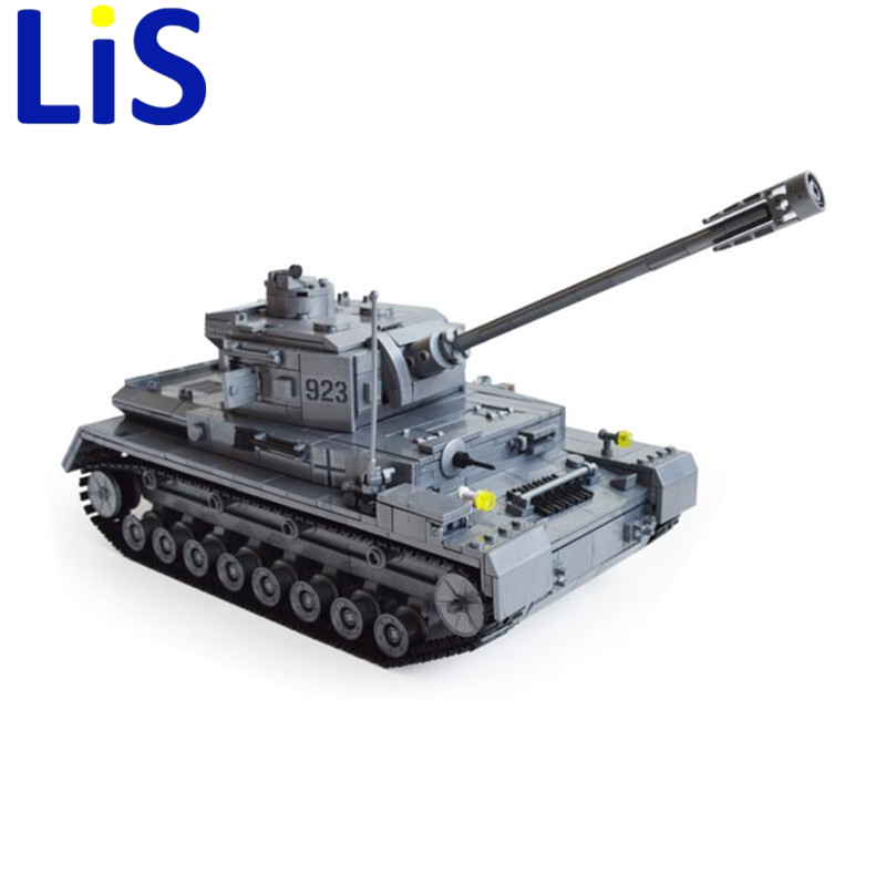 Lis Panzer IV F2 Tank 1193pcs Building Blocks Compatible with lepin Tank Educational Bricks Toys Models & Building Toys gift lepin 02012 city deepwater exploration vessel 60095 building blocks policeman toys children compatible with lego gift kid sets