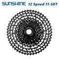 SUNSHINE MTB 12 скоростей кассета 11-50T Сверхлегкая 399 г CNC Freewheel горный велосипед запчасти для XTR GX NX