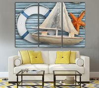 Free shipping painting art seaview sailing ship landscape wall picture for living room decorative canvas prints poster Unframed