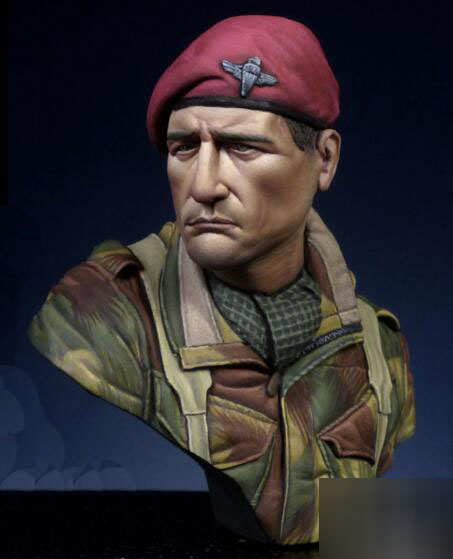 1/16 Resin Bust British Paratroopers Not Assembled Uncolored