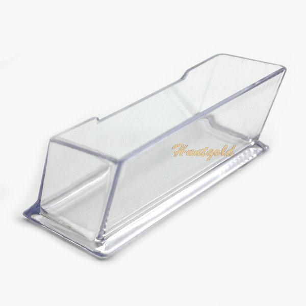 office table clear desktop desk business card holder box acrylic stand display in storage boxes bins from home garden on aliexpresscom alibaba group - Desk Business Card Holder