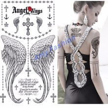 Fashion Design Tattoo the Jellyfish style Temporary Tattoo Sticker Sex Products Metallic tatoos Anchor Leaf Infinity wholesale
