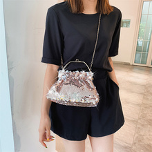 new Luxury Handbags Women Bags Designer Fish scales shining Shoulder Chain Evening Clutch Bag Female Messenger Crossbody Bags цена