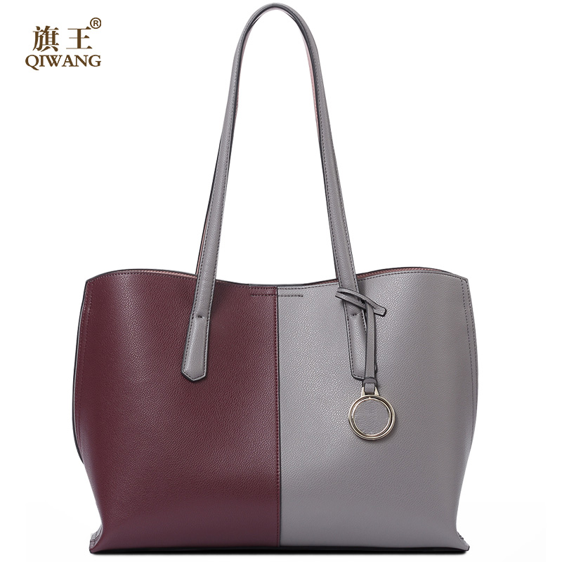 Long Strap Leather Handbags for Women QIWANG Hobo Bags Luxury Leather Shoulder Handbags for Fashion Women Used in Daily