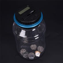 Electronic LCD Counting Coin Saving Pot Money Boxes Showing Piggy Bank Only For Usd Can Not Read Ruble Money Box(China)