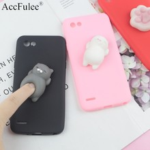 Squishy 3D Toys Phone Cat Case For LG Q8 Q7 2018 Q6 Plus G8 ThinQ G7 Fit G6 Plus G5 Stylo 4 Cover Funny Foot Soft Cases(China)