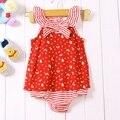 Милый младенец девочка летнее платье боди комбинезон для 2015 новорожденного Vestido Infantis Meninas малышей одежда Bebe одежда одежда