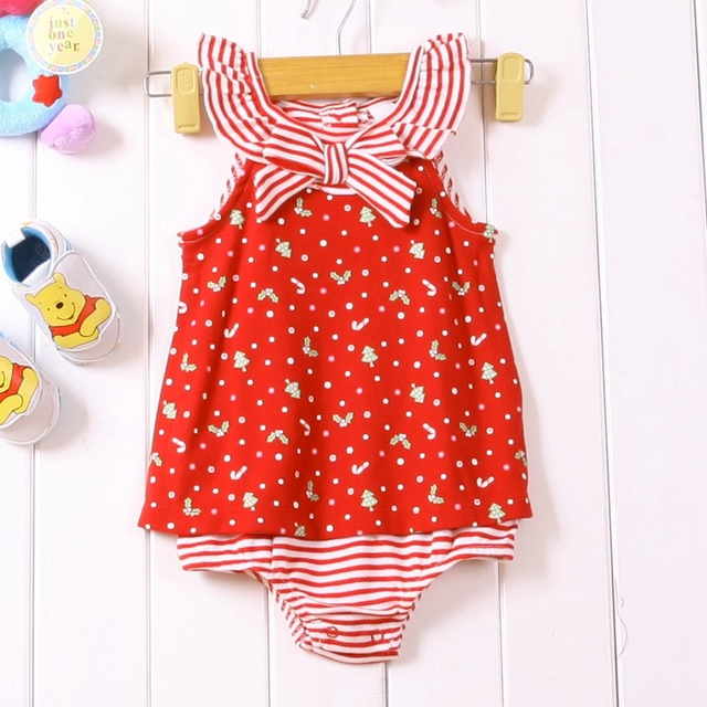 Cute Infant Girl Summer Dress Bodysuit Romper for Baby 2015 New Born Vestido Infantis Meninas Toddler Clothes Bebe Clothing Wear