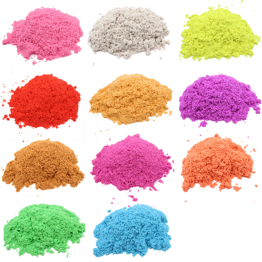 Dropshipping 100g Play Sand Magic Dynamic Sand Indoor Slime Toys For Children Educational Space Sand Polymer Soft  Clay
