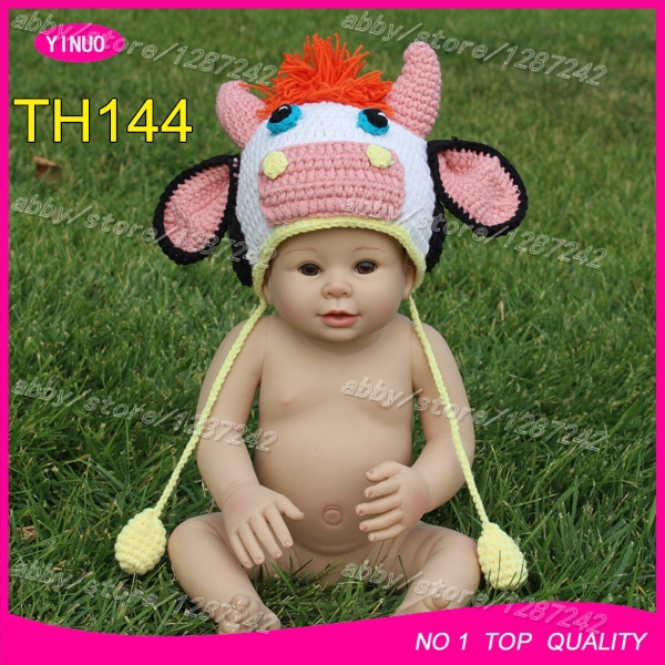 Brand New Cow Crochet Knitting Pattern Baby Boy Hat Baby Girl