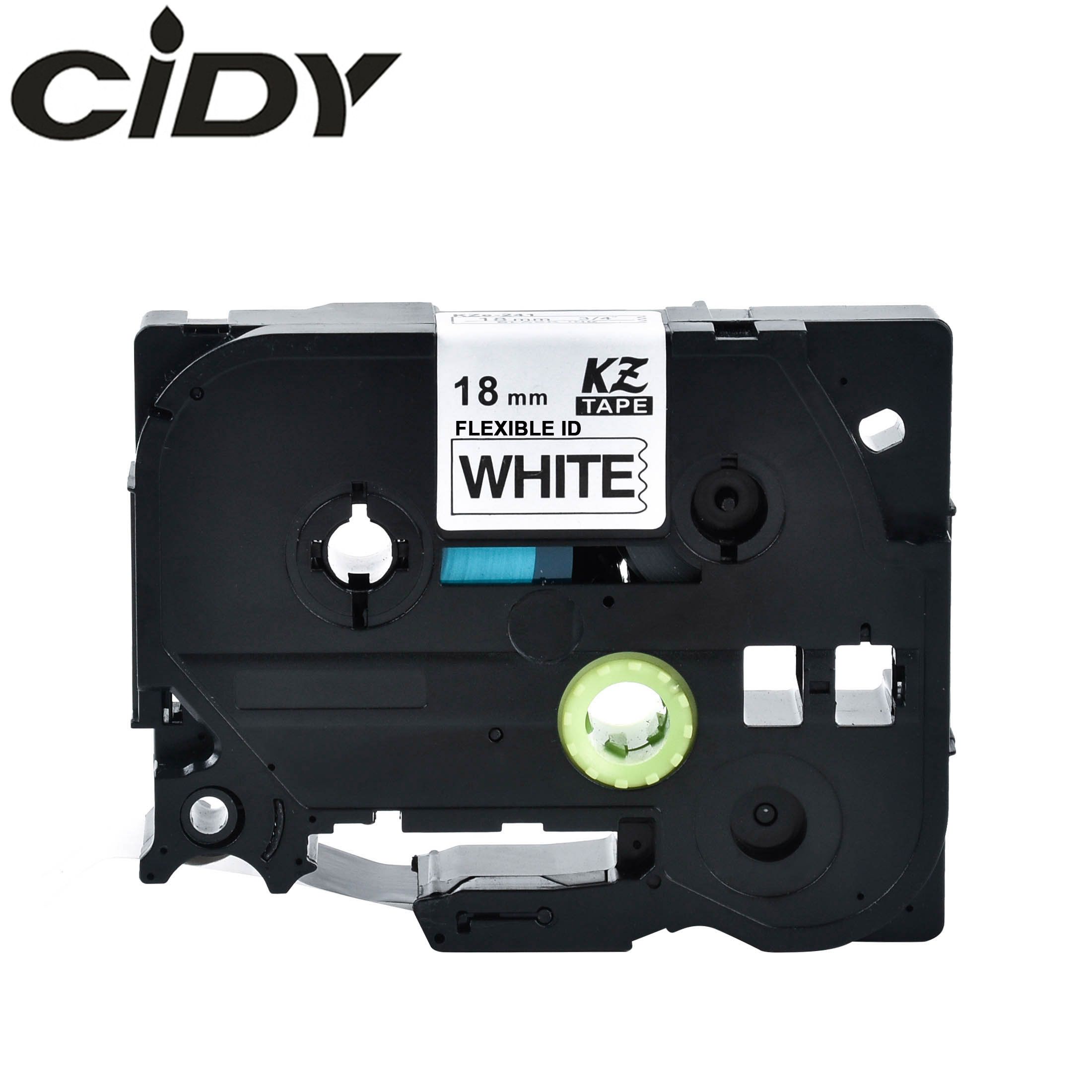 Cidy 10pcs Black on white TZ FX241 TZ FX241 Compatible Flexible Tze Label Tapes Tze FX241