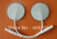 DHL/Fedex Freeshipping 300pcs/lot Round TENS EMS MACHINE ELECTRODE PADS For Massage/ Digital Therapy Machine