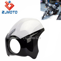 Black Headlight Plastic Front Windshield Headlight Fairing For Harley Motorcycle Headlight Cover