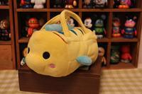 Original Rare TSUM TSUM The Little Mermaid Flounder Fish Bag Stuff Plush Toy Doll Birthday Children