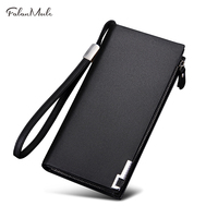 FALAN MULE Luxury Brand Genuine Leather Men Wallets Long Business Purse Male Wallet For Coin Phone