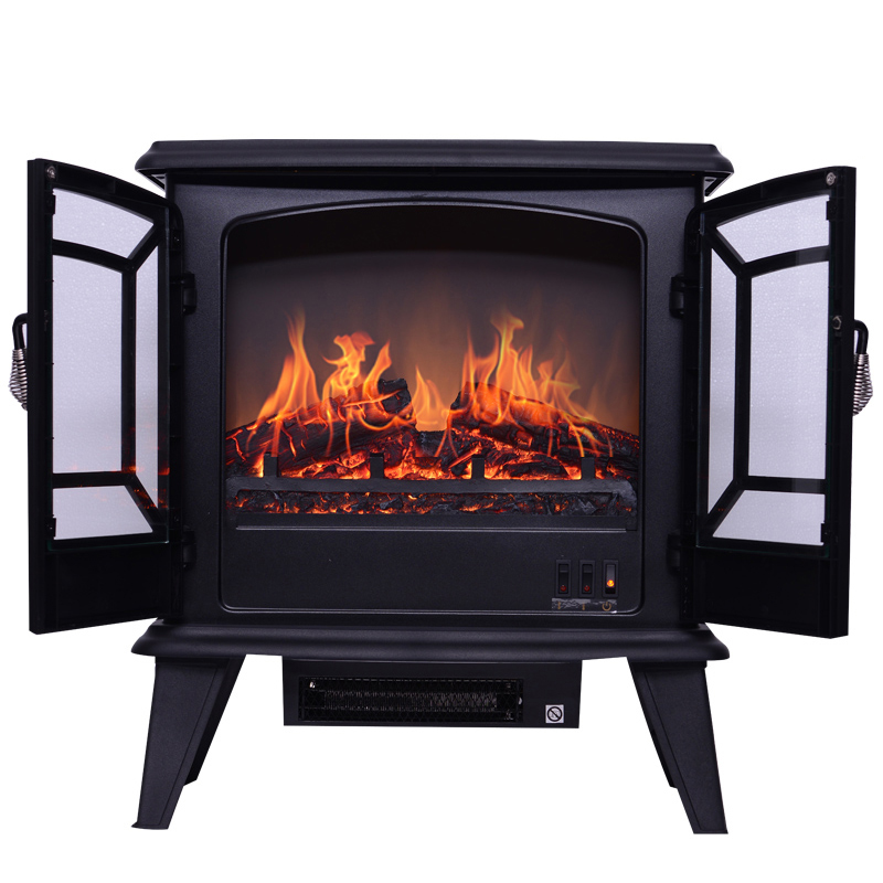 Independent electric fireplace heater Energy-saving 3D simulation flame electric fireplace core Mobile small fireplace 120V/220V napoleon 72 in electric fireplace insert with glass