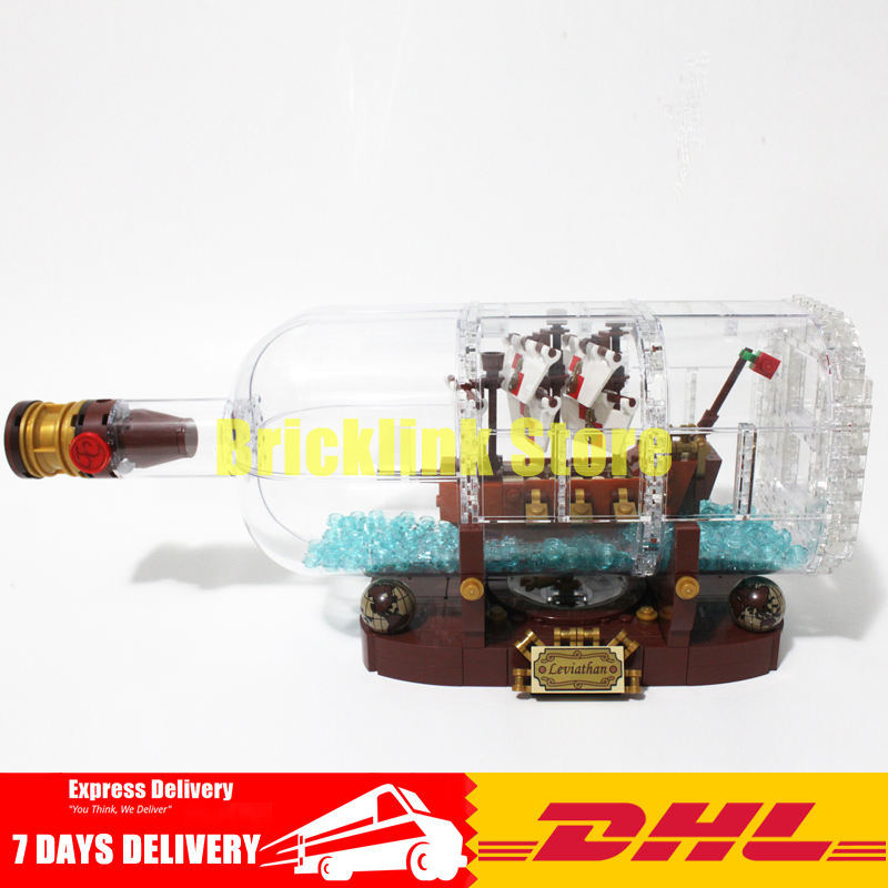 IN STOCK Lepin 16051 Toys 1078Pcs Movie The Ship in a Bottle Set Building Blocks Bricks Model Gifts Clone 21313 lepin 16051 toys 1078pcs ship in a bottle legoingly 21313 sets building nano blocks bricks funny toys for kids birthday gifts