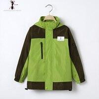 Boys Spring Autumn Waterproof GFMY Green Blue Children Famous Brand Hooded Jacket 1090
