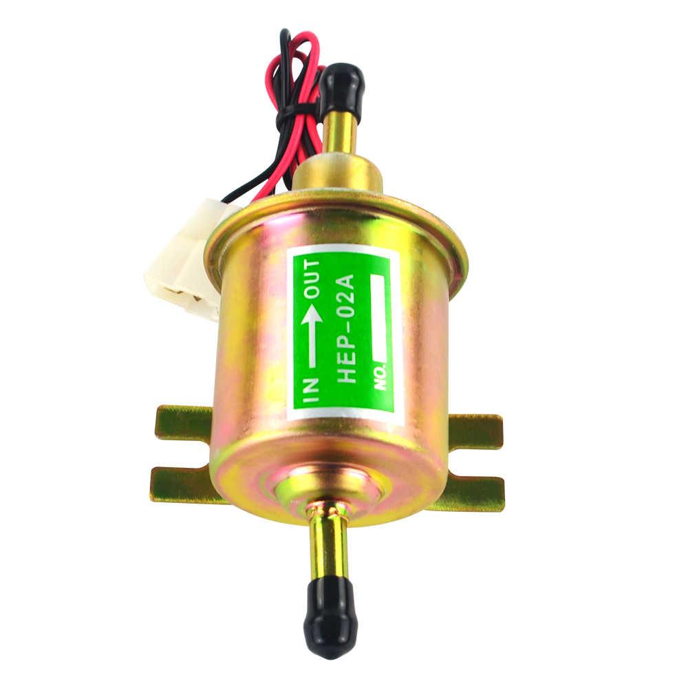 العالمي 12 فولت/24 فولت الكهربائية مضخة الوقود الضغط المنخفض الترباس تحديد سلك الديزل البنزين HEP-02A لسيارة المكربن دراجة نارية ATV