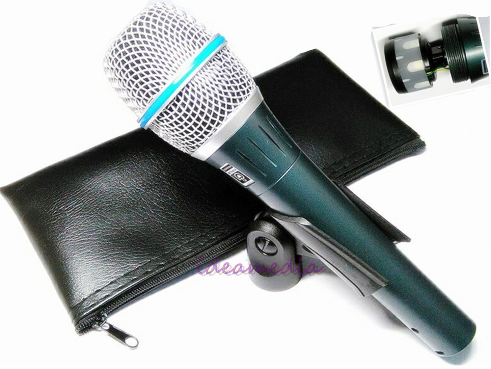 2 PCS lots ideamedia Top Quality Beta87A Supercardioid Vocal Microphone Beta 87A 87 A Mike With