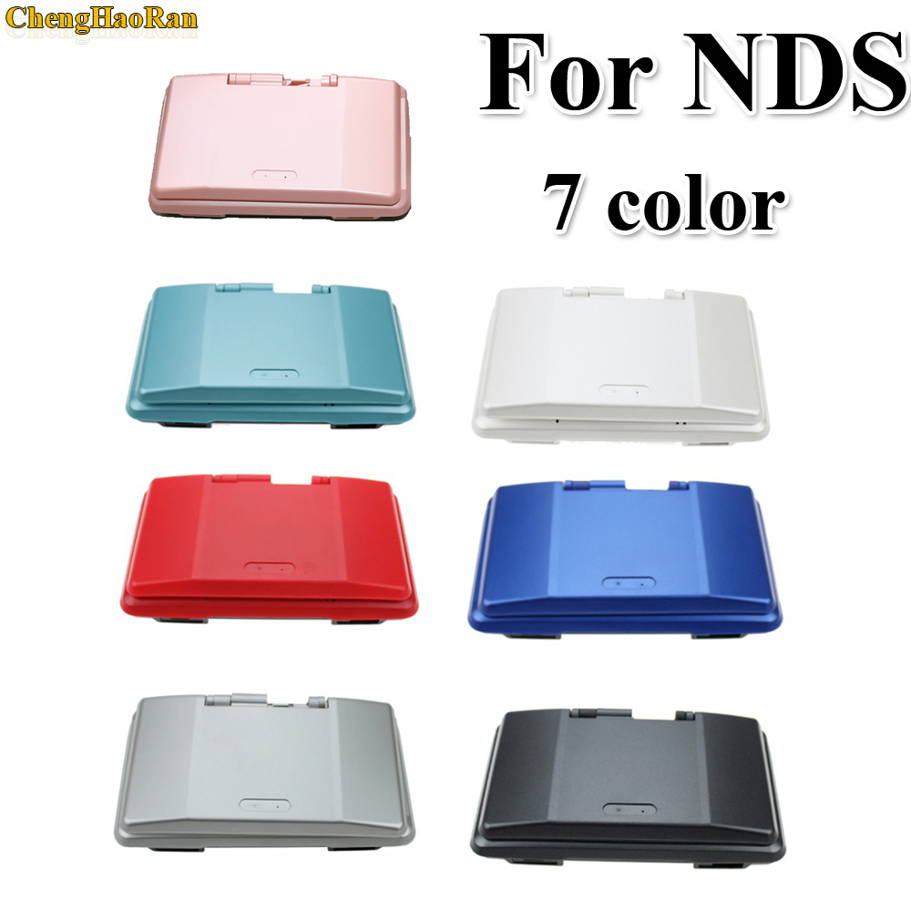ChengHaoRan 7 Colors Pink Blue Red Black Green White Silver Full Replacement Housing Case Cover Shell Kit For DS For NDS Console
