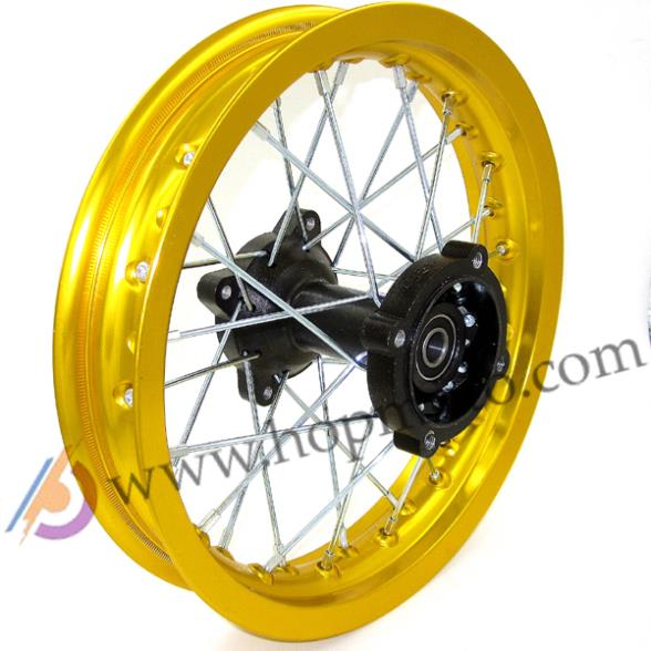 Dirt Bike Pit Bike Wheel Rims Gold Colour 12mm Or 15mm Axle 1 85