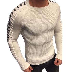 Image 1 - Мужской трикотажный свитер с круглым вырезом, с длинным рукавом