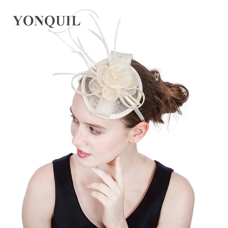 Multi colors Birthday party millinery fascinator hats fancy feather pillbox  hats women races halloween new year headband SYF168-in Party Hats from Home  ... 72b0e6a91fb