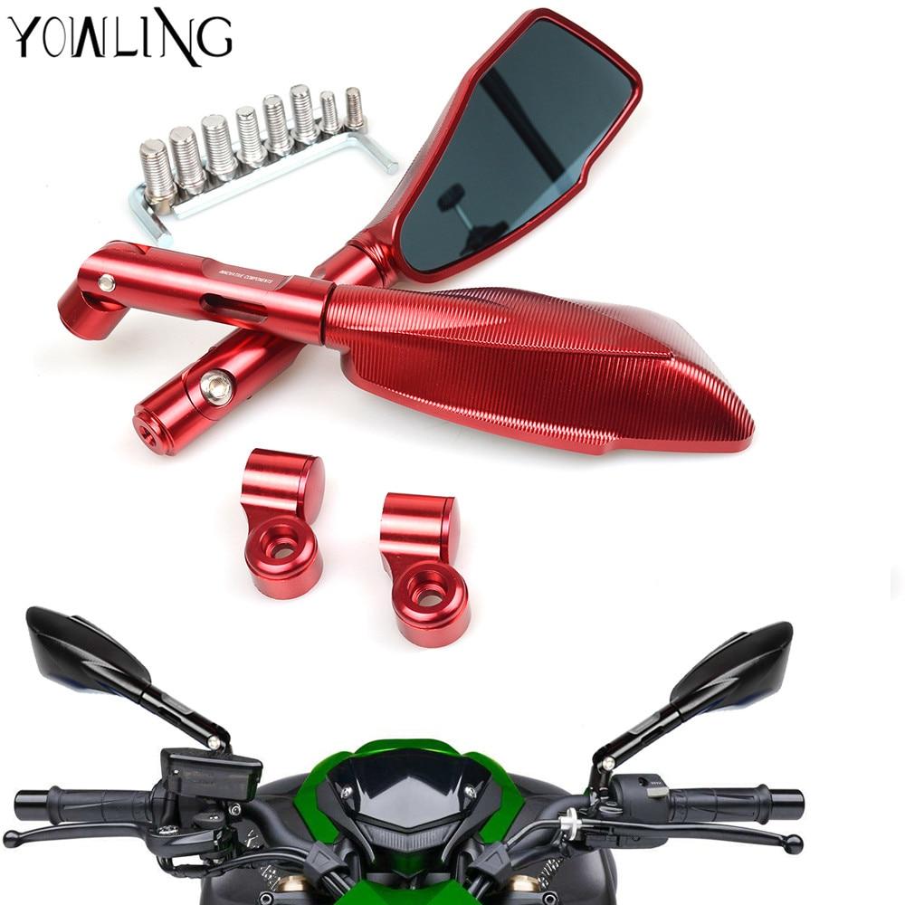 Алюминиевый мотоциклов заднего вида Боковые зеркала для YAMAHA тмах т Кавасаки z750 мотоцикл z1000 z800 для Сузуки Дукати XT660 WR250 WR125 Р6
