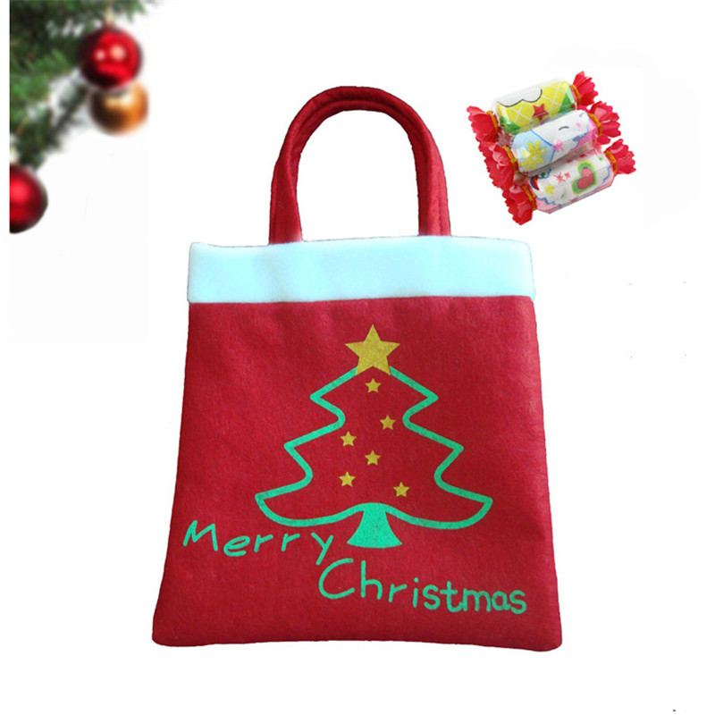hot sales christmas candy bag christmas tree home decoration party gift red bags christmas supplies 20 - Cheap Christmas Trees Online