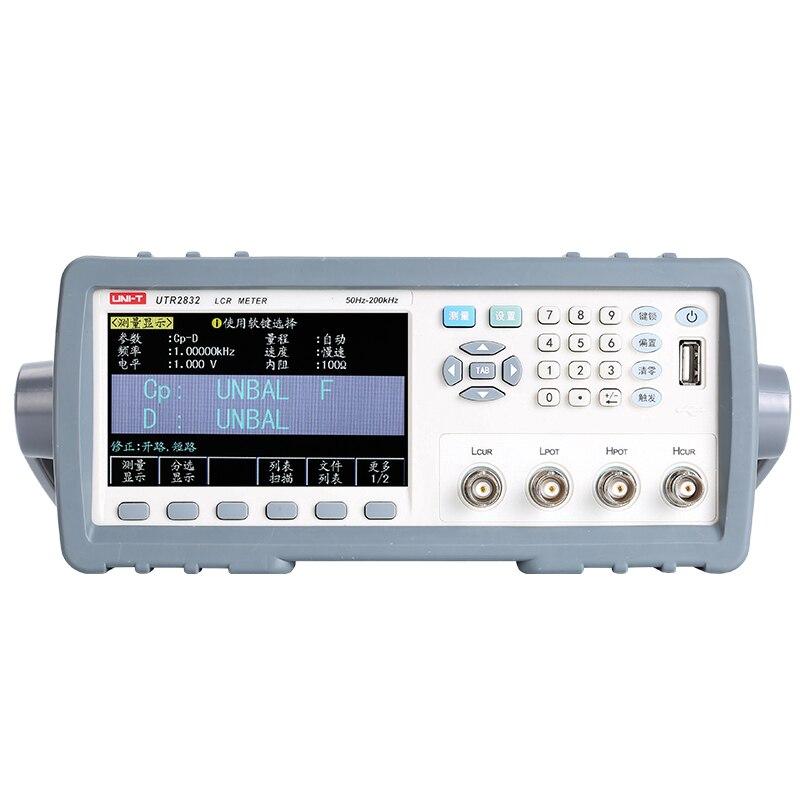 UNI T UTR2832 desktop ponte LCR digital de 200 kHz/indutor de resistência capacitância instrumento de medição|Medidores de resistência| |  - title=