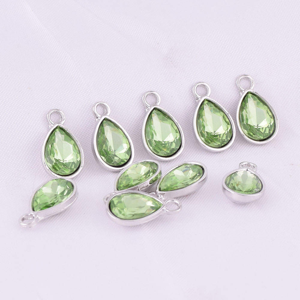 5b0c826997 US $11.99 |12color DIY Ring Bangle Crystal Teardrop 36pcs/pack Rhinestone  12*9MM Birthstone Charm Pendant Necklace For Jewelry Making-in Charms from  ...