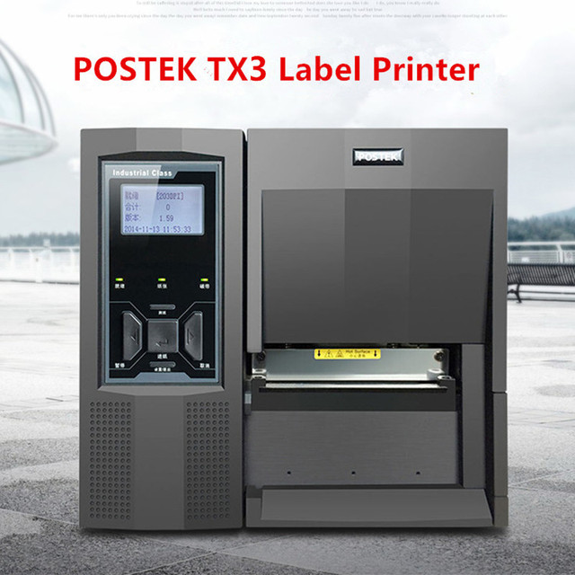 Postek TX3 Barcode Printer 300dpi Industrial Printer, Electronic/Jewelry Label Printer Clothing Tag Printer Cost-effective