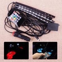 12V DC LED Car SUV Interior Floor Atmosphere Light Music Control Multi Color Decoration Lamp Wireless