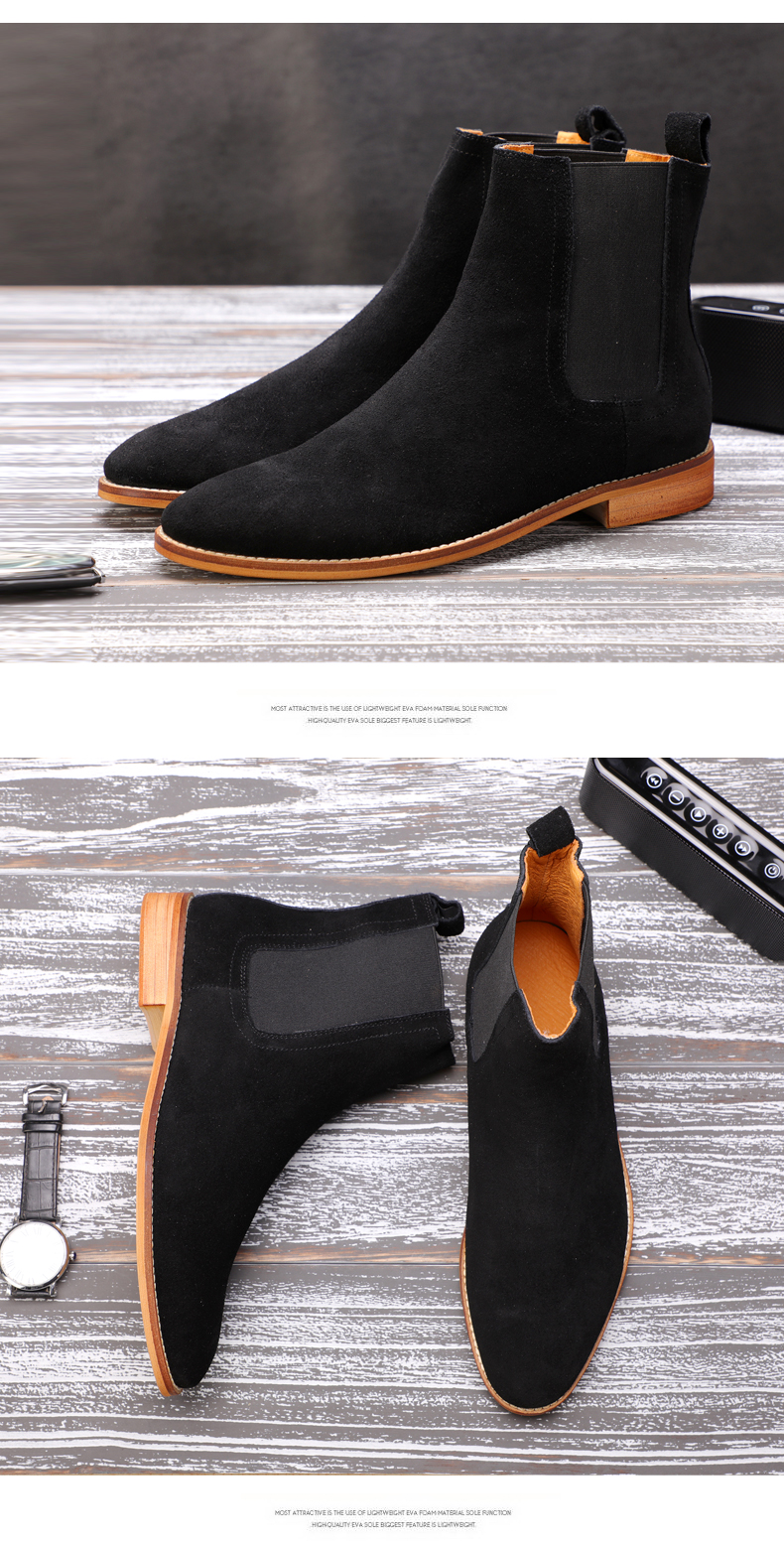 Men's Boots Casual Men Shoes Winter Mid-Calf Chelsea Boots Men Boot Genuine Leather Ankle Autumn Men Winter Boots Big Size 45-48 (6)